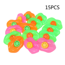 15PCS Plastic Lip Whistles Birthday Party Favors Party Noisemakers For Children Kids