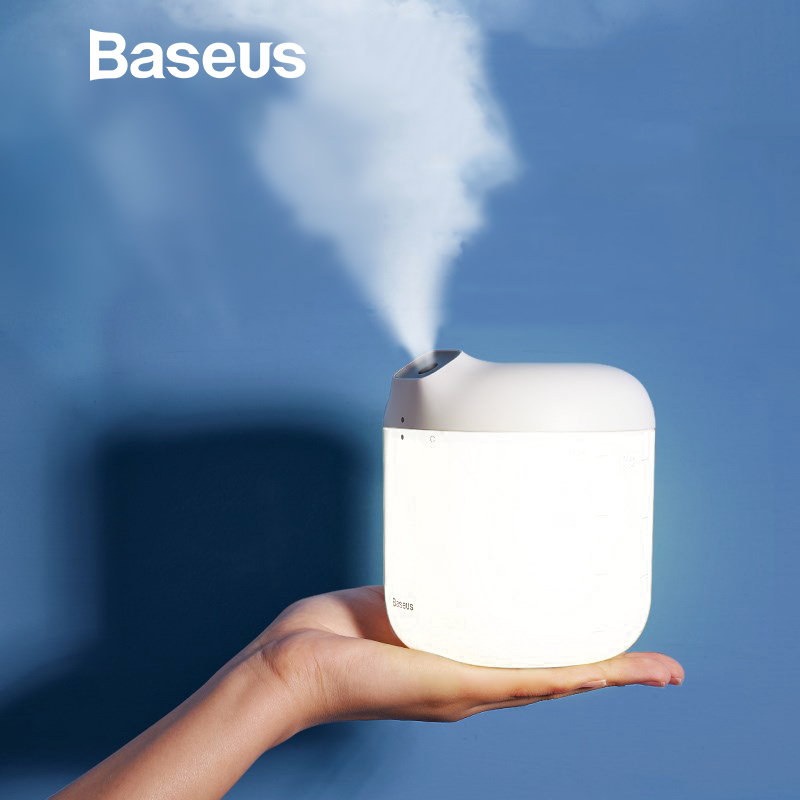 Baseus Humidifier Air Diffuser Difusor For Home Office 600 Ml Large Capacity Air Humidifier Humidificador With LED Lamp