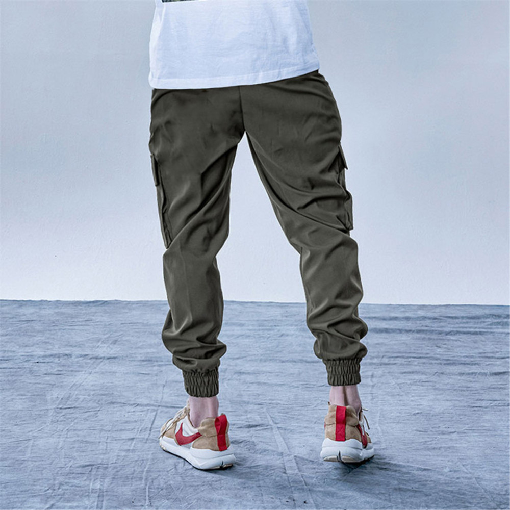 New Style Men's Cargo Pants Running Training Loose Long Pants Male Casual Jogger Sweatpants High Quality Solid Brand Trousers 2