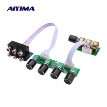 Aiyima 5.1 amplificador preamplificador tone board 6 canais independente passivo preamp tom ajuste de volume para 5.1 teatro em casa