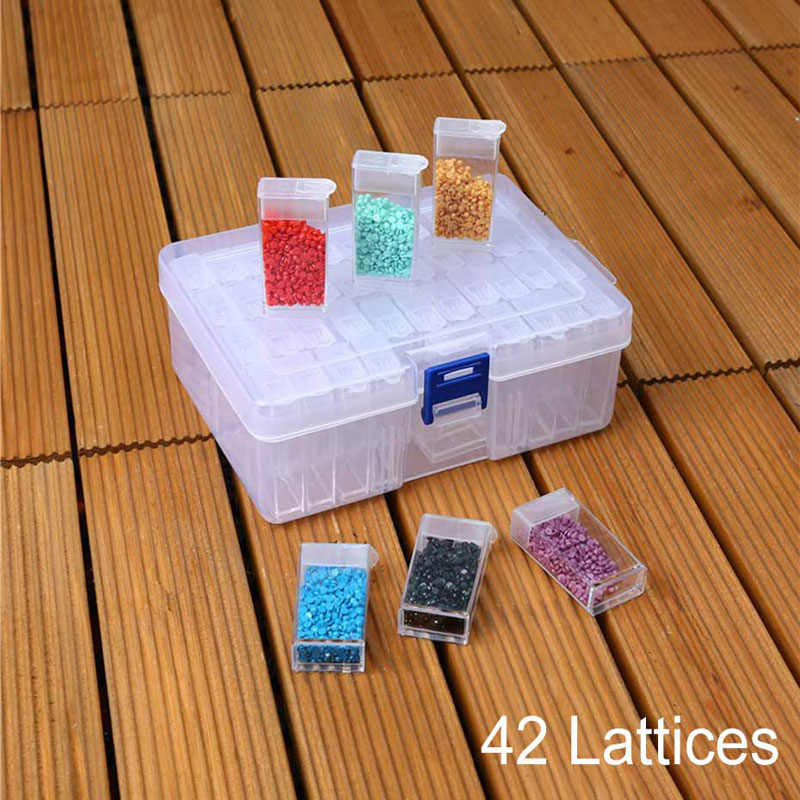 42 grid diamond painting tools bead container rhinestone storage box diamond embroidery accessories craft home set