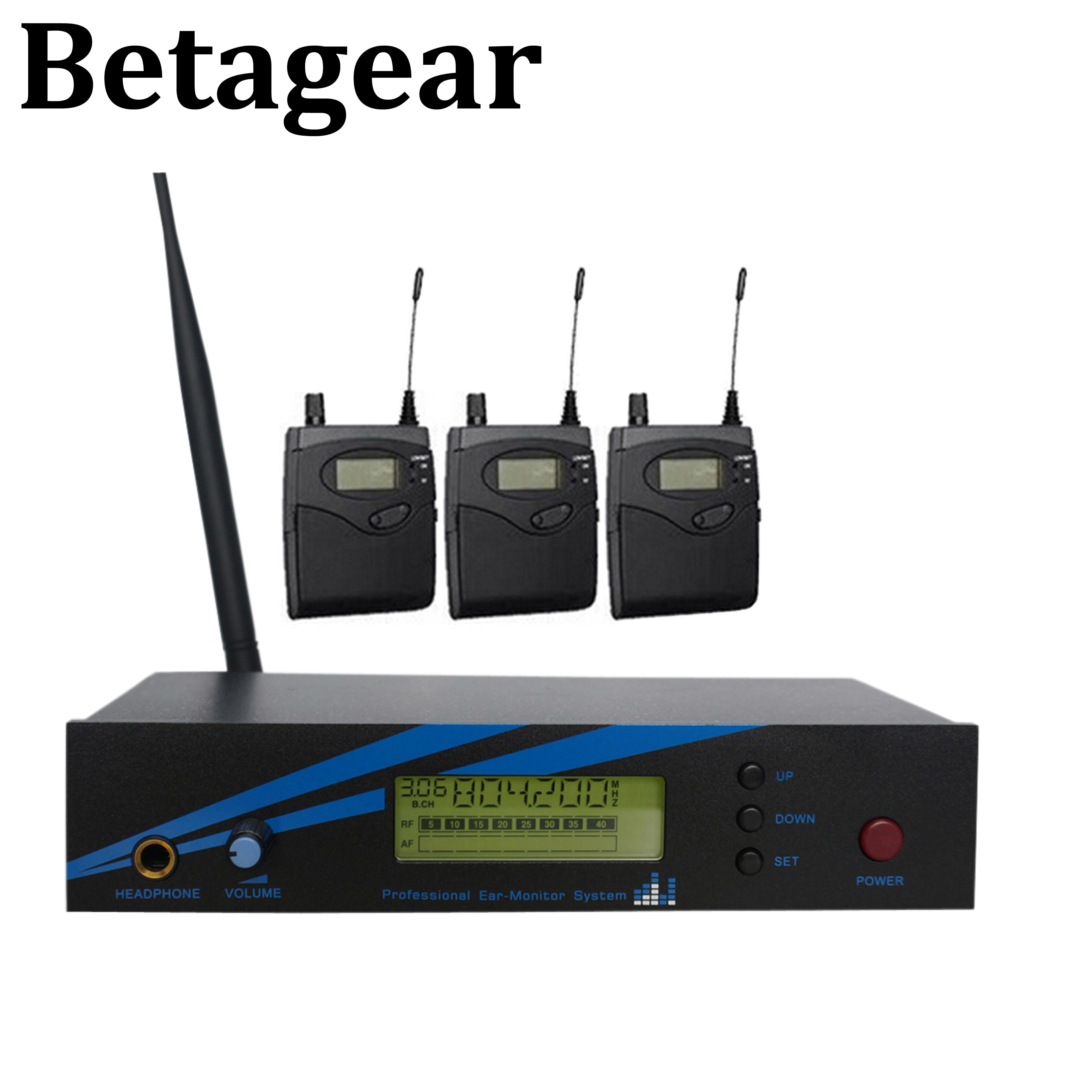 Betagear mono in ohr-monitor drahtlose system BK500 einzigen kanal 798-830MHz 3 empfänger professionelle leistung audio bühne