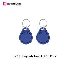 5/10 adet NFC IC 13.56MHz M1 S50 rozet kart jetonu katılım yönetimi anahtar Fobs etiketleri ABS su geçirmez RFID anahtar anahtarlık