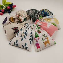 Cotton Bag Pouch Jewelry-Bags Gift-Bag Drawstring 200pcs Sack for Diy Pattern-Style