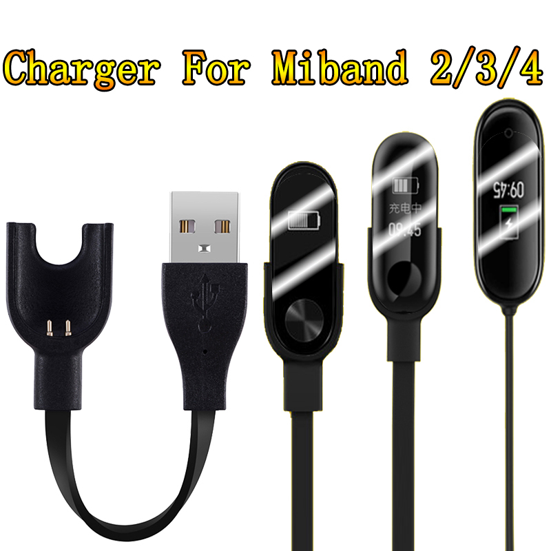 NEW Arrival Charger For Xiaomi Mi Band 2 3 4 Charger Cable Data Cradle Dock Charging Cable For Xiaomi MiBand 2 3 4 USB Charger