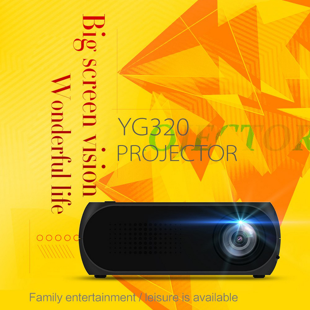 YG 320 MINI Projector 1920x1080P Resolution Portable 3D Video Beamer, Home Cinema, Optional Android WIFI Projector