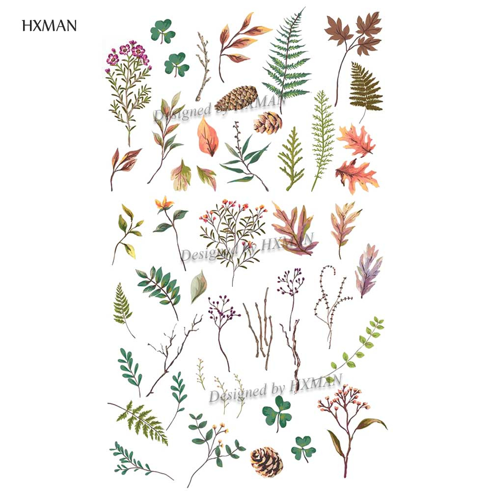 HXMAN Flower Temporary Tattoo Sticker Waterproof Fashion Women Arm Fake Body Art 9.8X6cm Kids Adult Hand Tatoo P-020