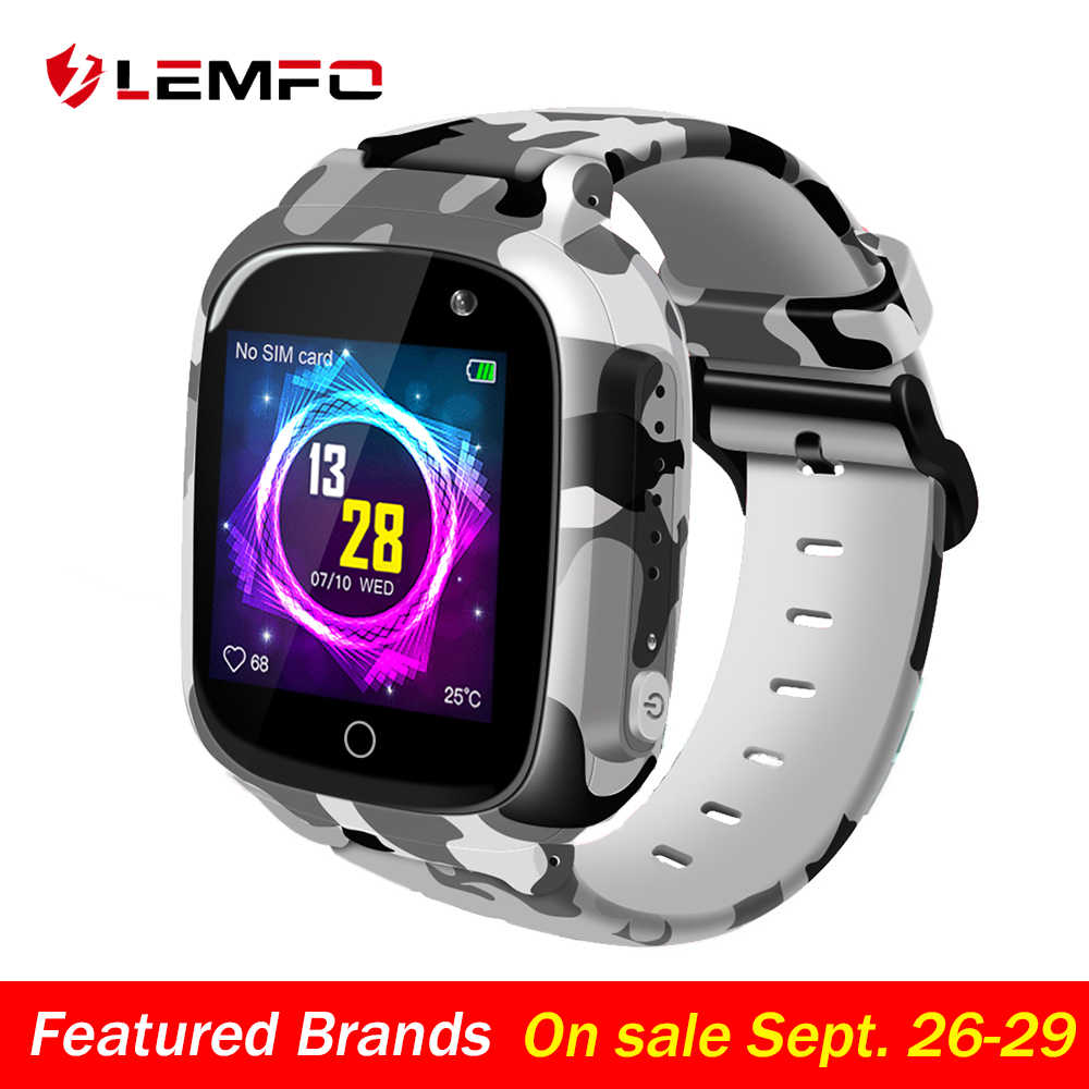 LEMFO LEC2 Smart Watch Kids GPS Wifi 600Mah Battery Baby Smartwatch IP67 Waterproof SOS For Children Support Take Video