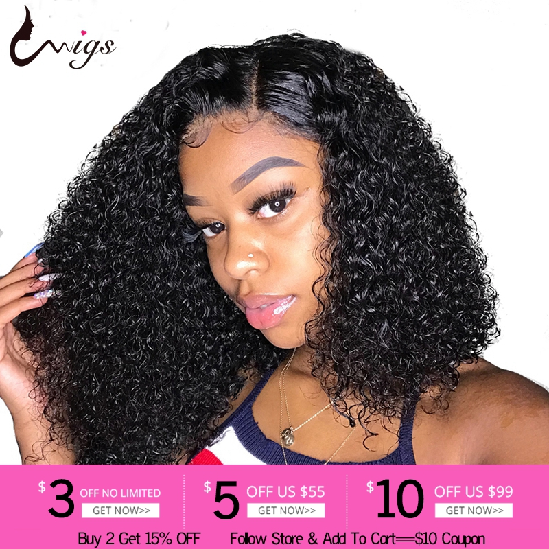 Mongolian Jerry Curl Wig Lace Front Human Hair Wigs For Black Women 13x4 Lace Frontal Wig Curly Human Hair Wig Pre Plucked 8-26