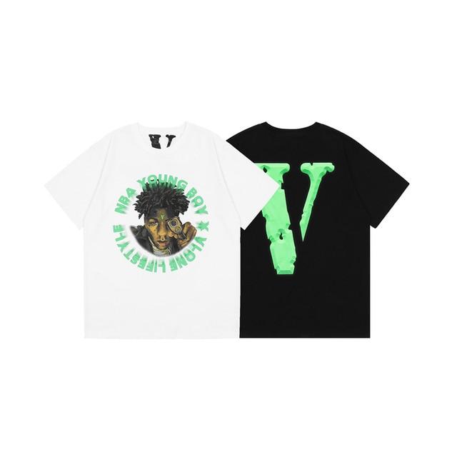 VLONE Young Boy X Cross Roads Green TShirt 1