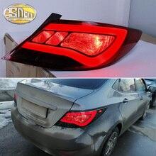 Автомобильный светодиодный задний фонарь для hyundai Accent Solaris 2012 2013 задний противотуманный фонарь+ стоп-сигнал+ Задний сигнал поворота