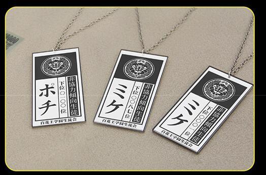 Kakegurui Compulsive Gambler Yumeko Jabami Ryouta Suzui Mary Saotome Cosplay Necklace
