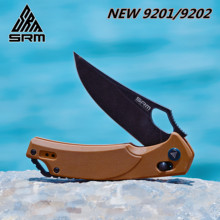SANRENMU SRM NEW 9201/9202 Pocket Folding Knives D2 Blade Axis System Survival EDC Tool outdoor camping hunting tactical knife
