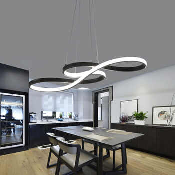 living room suspended acrylic gold Round led chandelier hanging Modern pendent lights ceiling lamps chandeliers fixtures