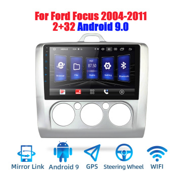 9' Android 9.0 2 din android car radio DSP 2.5D IPS Screen GPS NAVIGATION WIFI For Ford Focus MP5 Car Player Front&Rear CAM image