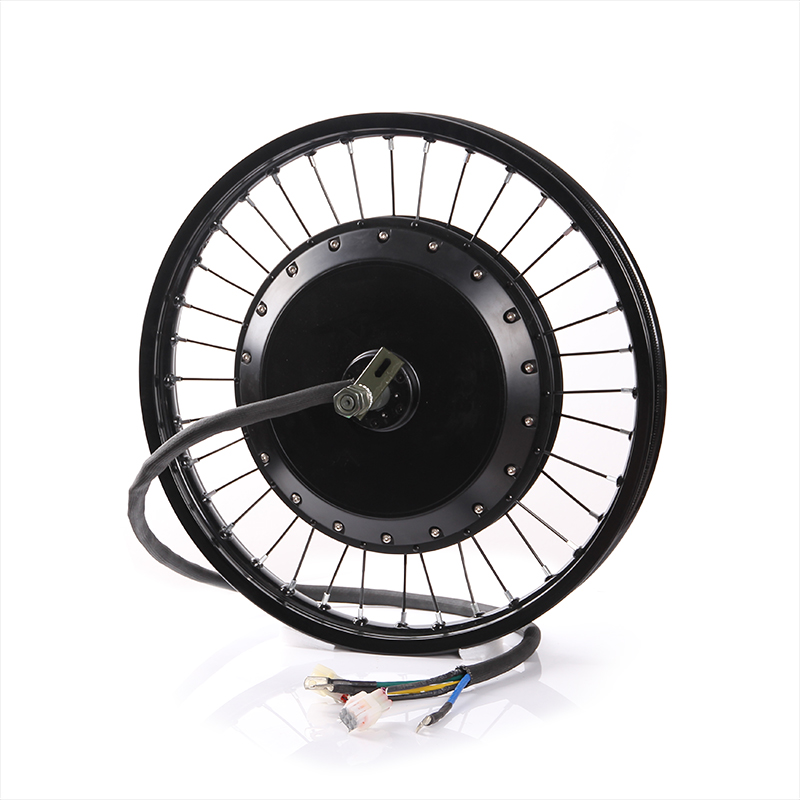 QS 273 8000W Super Speed Electric Rear Wheel Hub Motor 8kw Electric Bicycle Bike Brushless Non-gear BLDC Hub Motor