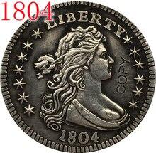 Stany zjednoczone 1804,1805, 1806,1807 drapowana biust czwarte kopia monety