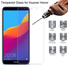 Protective Glass for Huawei Y9 Y5 Y6 Y7 Prime 2018 Tempered Glass for Honor 7A Pro 7S Screen Protector on Honor 7C Pro Film аксессуар стекло противоударное для huawei y6 prime 2018 honor 7a pro gurdini 2 5d full screen blue 907953