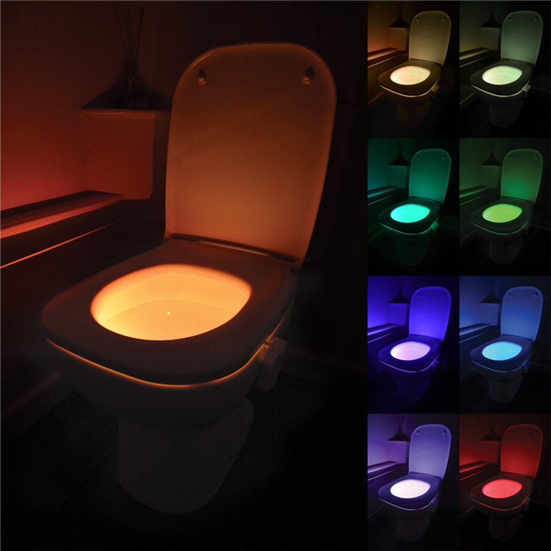 Caravan RV Camping Car Toilet Seat Night Light Smart Pir Motion Sensor Waterproof Backlight Motorhome Caravan WC Toilet Light