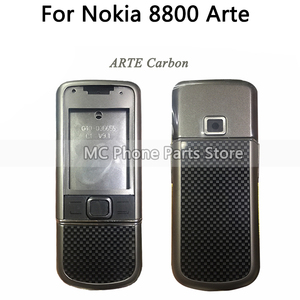 Image 2 - Full Housing For Nokia 8800 Arte Carbon 8800 ARTE Sapphire Back Battery Cover Middle Frame Plate With Keyboard Button
