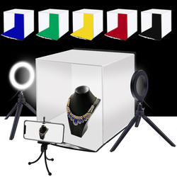 PULUZ 30cm Soft Light Box Folding Portable Photography Studio Desktop Photography Light Box For Jewelry Watch Shooting Lightbox