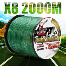 fishing braid line 1500m 2000m wire durable sea ocean ice fishing pe line  fishing all 8 weaves ultra high strength  8 300LBS