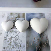 3D Heart Aroma Gypsum Plaster Silicone Mold For Car Decoration Love Heart Silicone Mold