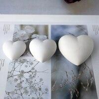 Moule de Silicone de plâtre de gypse d'arome de coeur 3D pour la décoration de voiture moule de Silicone de coeur d'amour