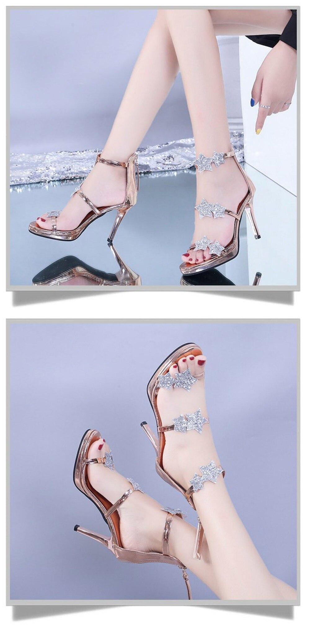 Chaussures brillantes à paillettes