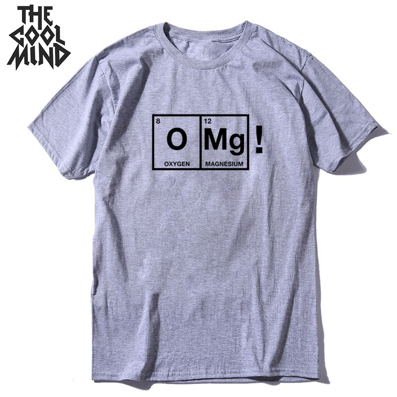 COOLMIND Top Quality Cotton O-neck Print Men T Shirt Casual Loose OMG Print Men Tshirt O-neck T-shirt Male Men Tee Shirts