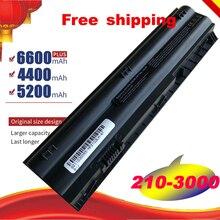 A HSW Novo 6 MTO6 MTO3 MT06 MT03 HSTNN LB3B HSTNN DB3B Células bateria do portátil Para HP Mini 210 3000 2103 2104 1104 3115m series