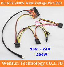 16V -24V input DC ATX 200W Wide Voltage 24Pin 24p Direct-plug Digital DC-ATX Power Supply for PC Computer PSU Power Mini ITX(China)