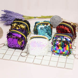 Bag Toys Coin-Bag Purse Square Sequin Three-Dimensional Mini Kids Ladies New