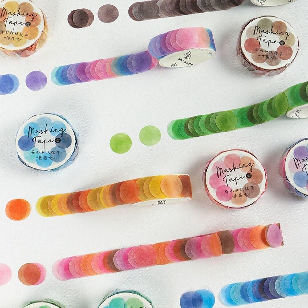 100 шт/рулон конфет красочные точки васи ленты круглые наклейки точка наклейки для дневника планировщик для скрапбукинга фото DIY декоративны...