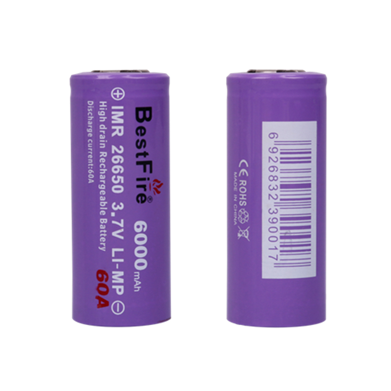 Vape <font><b>Battery</b></font> Bestfire <font><b>3.7V</b></font> 26650 <font><b>Rechargeable</b></font> <font><b>Battery</b></font> <font><b>6000mAh</b></font> 60A <font><b>Li</b></font>-<font><b>ion</b></font> <font><b>Battery</b></font> 26650 For Vaper E Cigarette Led Flashlight image