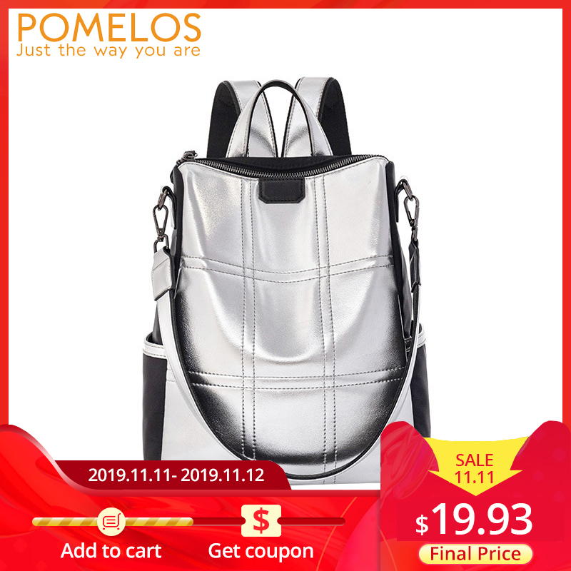 POMELOS Backpack Women 2019 Fashion School Backpack Travel New Arrival High Quality PU And Oxford Rucksack Women Luxury Backpack