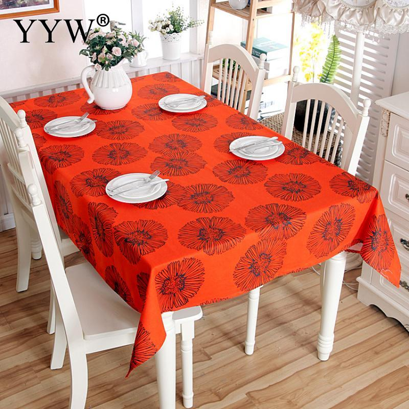 Red Jacquard Tablecloth Rectangular Tablecloths In Fabric Cotton Table Cloth Oilcloth Household Table Cover Obrus Home Decor