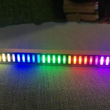 GHXAMP Car Level indicator Multicolor LED Music Spectrum 32-Bit Sound Control Home Level Light Bar Display Vehicle 5-12V