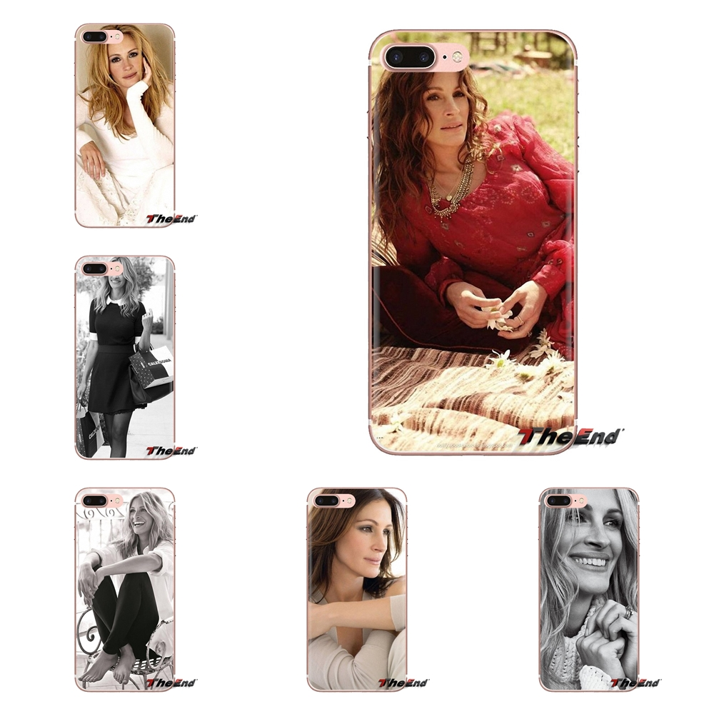 Julia Roberts Hair and Makeup Soft Transparent Shell Cases For iPod Touch Apple iPhone 4 4S 5 5S SE 5C 6 6S 7 8 X XR XS Plus MAX