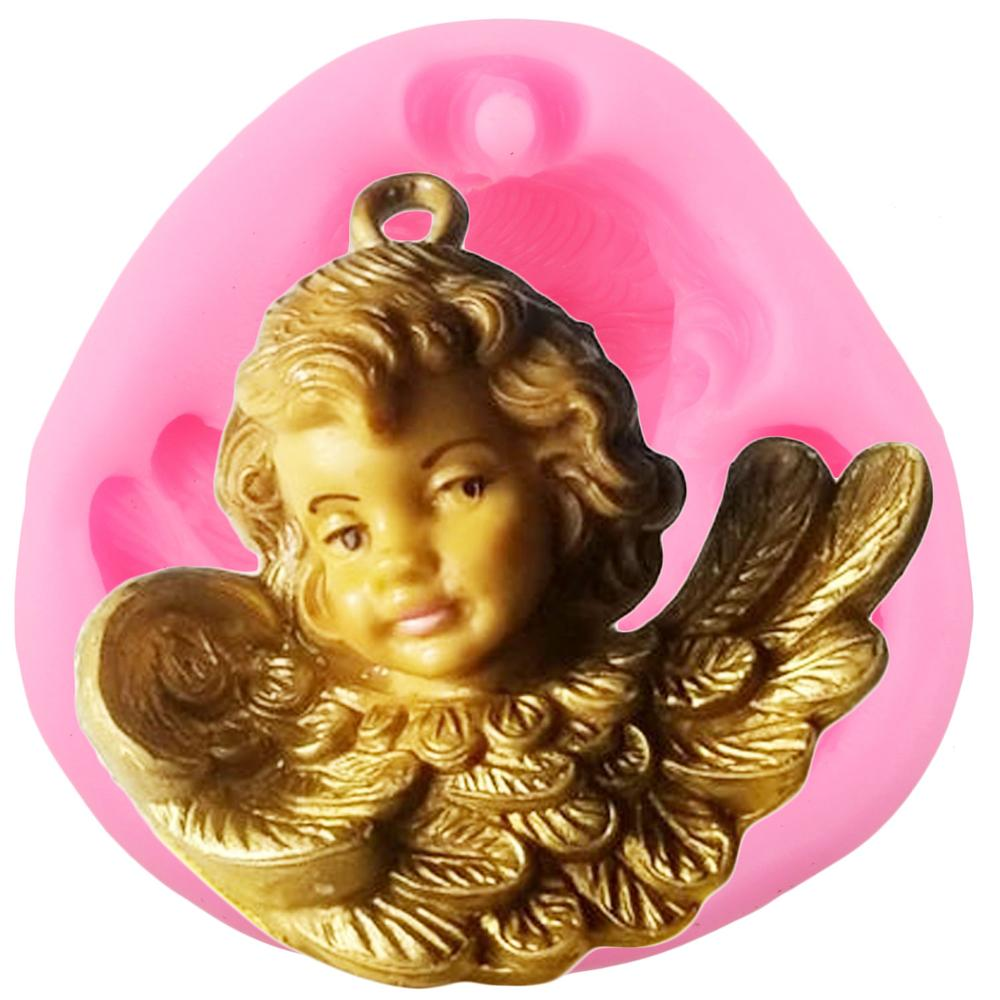<font><b>Angel</b></font> <font><b>Wings</b></font> <font><b>Silicone</b></font> <font><b>Molds</b></font> Cupcake Topper Fondant Chocolate Candy Polymer Clay Soap Candle <font><b>Mold</b></font> DIY Party Cake Decorating Tools image