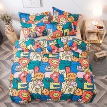 Fashion Bedding Set luxury Pink love Family Set Sheet Duvet Cover Pillowcase  Full King Single Queen,bed set 2019