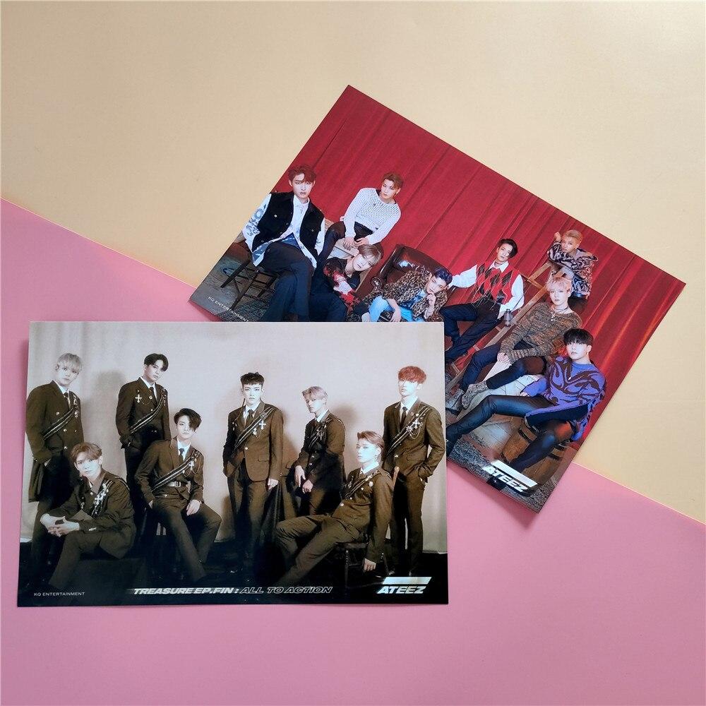 2pcs/set ATEEZ Poster Stickers 21*30cm 6