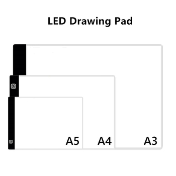 A3 A4 A5 LED Drawing Tablet Digital Graphics Pad USB LED Light Pad Copy Board Electronic Art Graphic Painting Writing Table