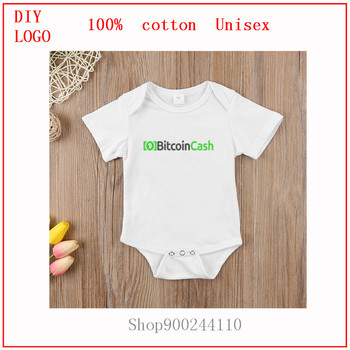 new born baby boy clothes 3 to 6 months Bitcoin Cash (BCH) Crypto Letter Newborn Bodysuits baby Summer Rompers Baby Clothes image