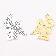 12pcs Cute Angel Pendant, Angel charms, Praying Angel Charms, Loving Angel Charms, DIY Jewelry Crafts Making 23*16mm P24 цена 2017