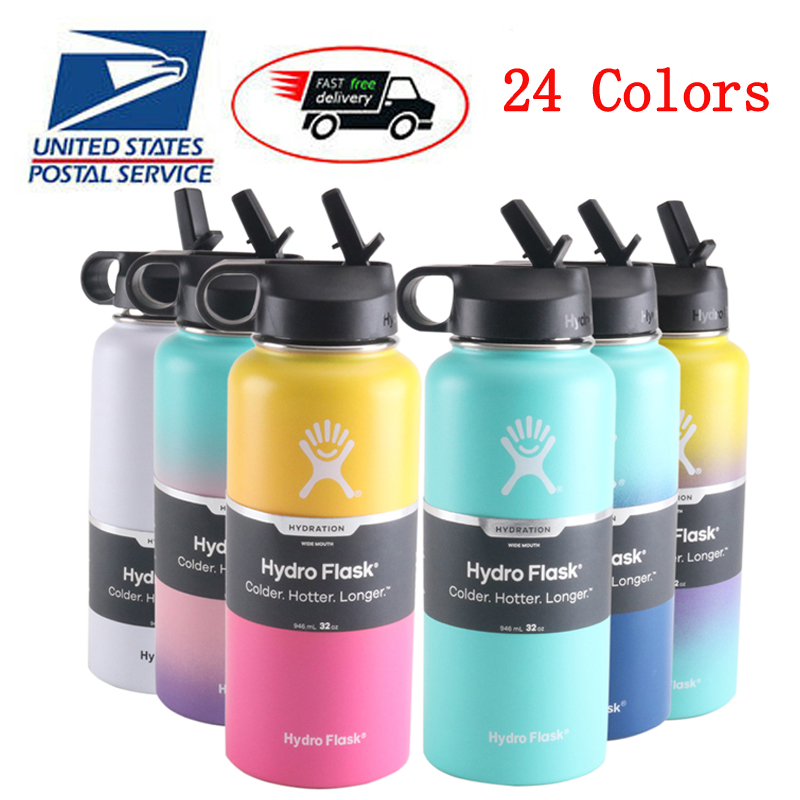 hydro flask 18oz 32oz 40oz Tumbler Flask Vacuum Insulated Flask Stainless Steel Water Bottle Wide Mouth hydro flask 18oz/32oz/40oz Tumbler Flask Vacuum Insulated Flask Stainless Steel Water Bottle Wide Mouth Outdoors Sports Bottle