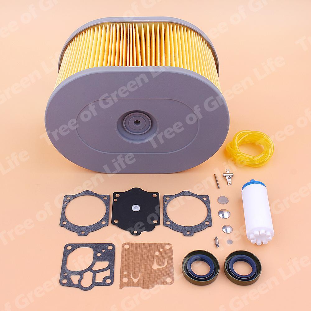 Tools : Air Fuel Filter Line For Husqvarna K970 K1260 Cut Off Saw Oil Seal Carburetor Repair Kit 510244103 510244101