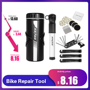 Mini Pump 14 in 1 Multi Function Tool Kit 750ml Bike Repair Tool Kits Cycling Bicycle Repair Set Bike Tool Storage Bottle Case