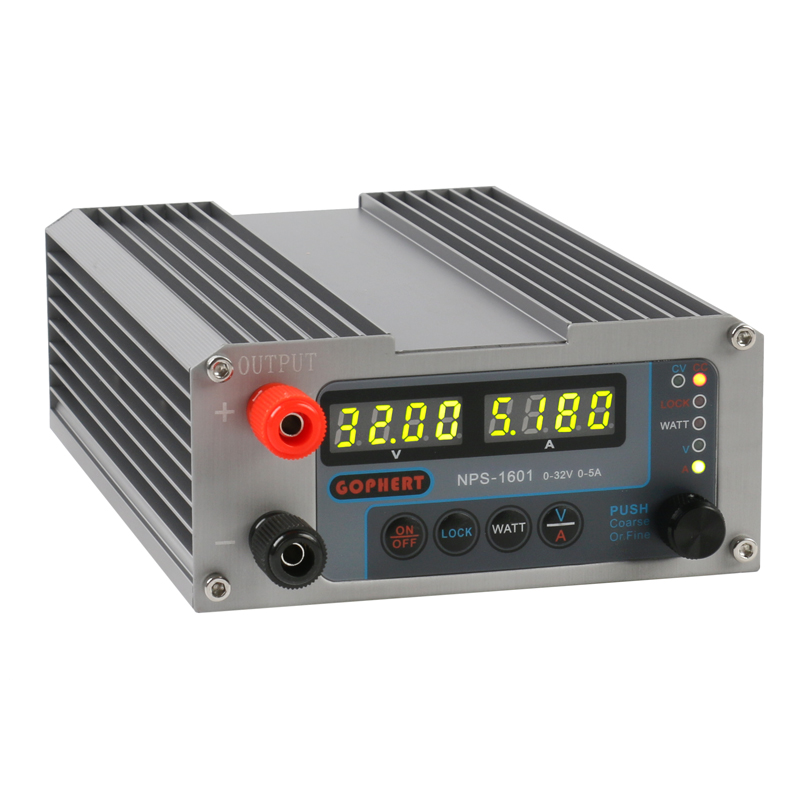 2019 NPS-1601 New Version Laboratory DIY Adjustable Digital Mini Switch DC Power Supply WATT With Lock Function 32V 30V 15V 5A