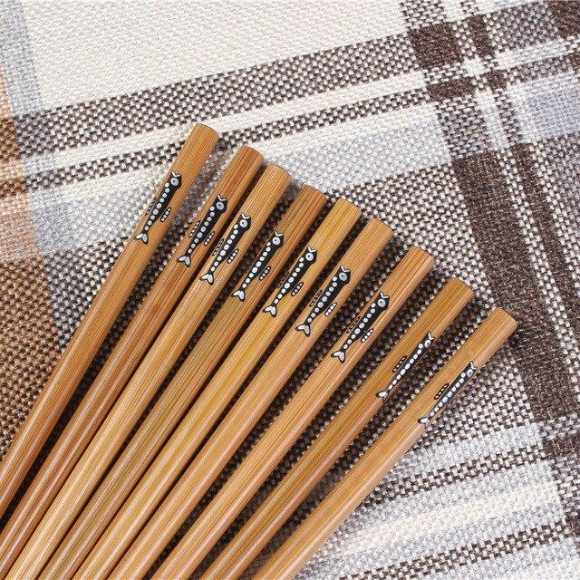 Фото 20 пар ручных палочек для еды из натурального бамбука здоровые цена